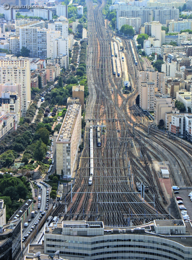 Montparnasse Railways, View from Montparnasse Tower